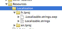 Localization group in XCode