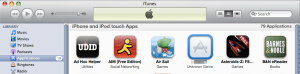 Installing Ad Hoc build via iTunes (click to enlarge)