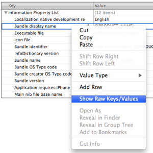Set Raw Key Names in Xcode (click to enlarge)