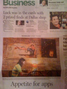 Dallas Morning News article (click to enlarge)