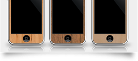 Wooden iPhone Skins